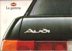 Audi la gamme - Edition juillet 90