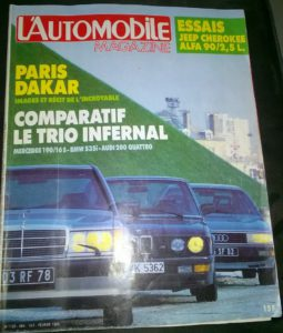 L'automobile magazine - février 1985 - Le trio infernal